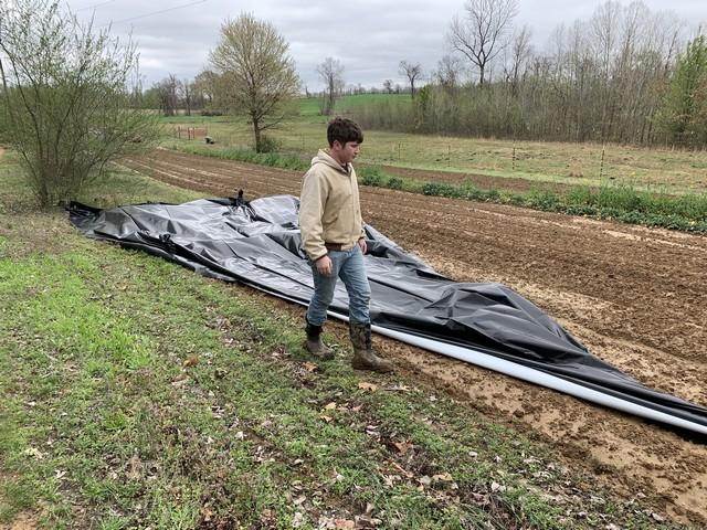 Unfolding the tarp